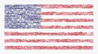 Star Spangled Banner Typography US Flag
