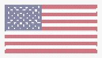 Halftone US Flag