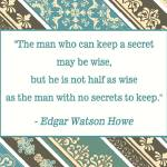 """THE MAN WHO CAN KEEP A SECRET"" by marymase"
