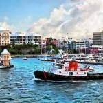 """Bermuda - Tugboat Going Into Hamilton Harbour"" by susansartgallery"