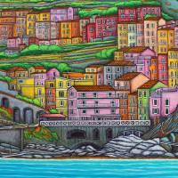 Colours of Manarola Art Prints & Posters by Lisa Lorenz