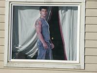 Movie Star Cut Out in Window