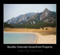 Boulder CO Oceanfront Property Poster Black