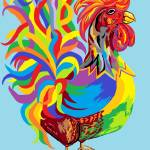 """""""Fiesta Rooster"""" by EloiseArt"""