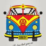 """MY SUPERHERO-VW-T1-wonder woman"" by Chungkong"
