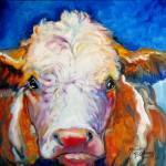 """BLUE MOON BULL"" by MBaldwinFineArt2006"