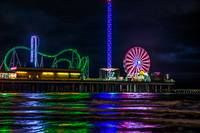 Galveston Pleasure Pier at Night D822419