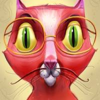 Cat Glasses Art Prints & Posters by Timothy Banks