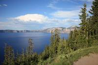 Rain Cloud over Crater Lake