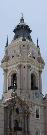 Cathedral of Lima Peru - Close up of Tower