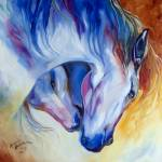 """ETERNAL BOND EQUINE"" by MBaldwinFineArt2006"