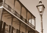 New Orleans Balcony with Lamp