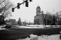 Court Square in Snow