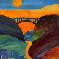 New River Gorge Collage Art Prints & Posters by Ginger Danz