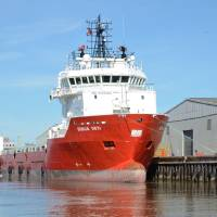 Offshore Supply Ship Durga Devi Art Prints & Posters by Malcolm Snook