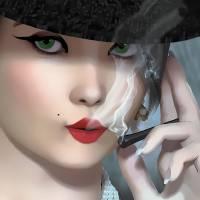 Smokin-1 Art Prints & Posters by Nina Bradica