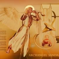 Archangel Sandalphon Art Prints & Posters by Valerie Anne Kelly