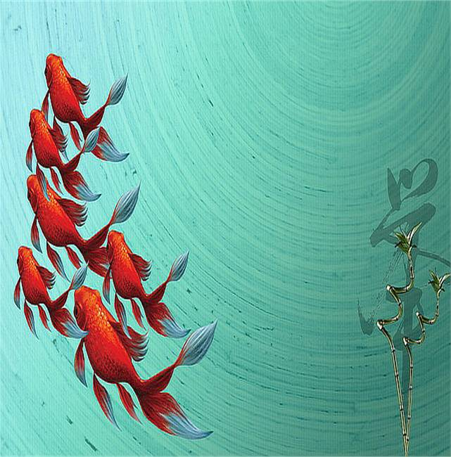 Decorative koi fish artwork for sale on fine art prints - Decoratie kooi ...