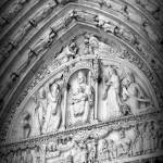 """Prayers at Notre Dame - Black and White"" by Groecar"