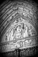 Prayers at Notre Dame - Black and White