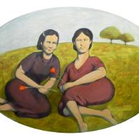 Ida and Erminia in the fields Art Prints & Posters by federico cortese