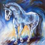"""JOYFUL PRANCING EQUINE"" by MBaldwinFineArt2006"