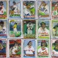 My baseball card collection Art Prints & Posters by John Kilduff