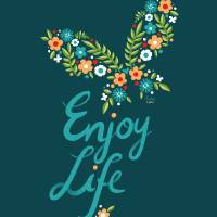 Enjoy Life Art Prints & Posters by Indre Bankauskaite