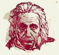 Albert Einstei - Pop Stylised Art Sketch Poster