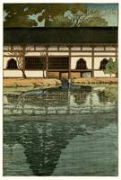 Part of the Byôdô-in Temple at Uji by Hasui Kawase