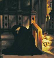 Lord Frederic Leighton - The Widow's Prayer 1865