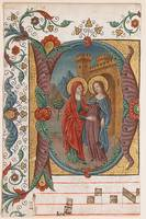 Manuscript Illumination with the Visitation in an