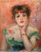 Pierre-Auguste Renoir, Jeanne Samary, 1877, oil on