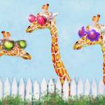 """sunglasses giraffes"" by pietrastone"