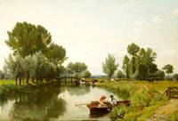 rederick George Cotman ,Boating on the Stour
