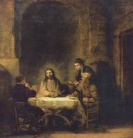 Rembrandt (1606-1669) painted Supper at Emmaus in