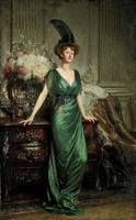 Sir Frank Dicksee - Portrait of the Hon. Mrs Ernes