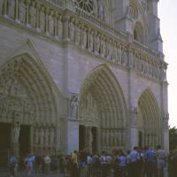 2001 Notre Dame, West Front, August Evening Art Prints & Posters by Priscilla Turner