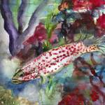 """""""Ocean Life Coral Reef Watercolor"""" by GinetteCallaway"""