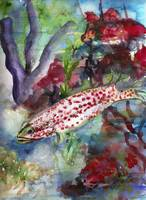 Ocean Life Coral Reef Fish Watercolor