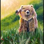"""Kodiak Bear in the Morning Sunshine"" by Littlepig"