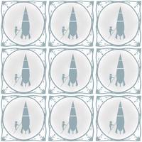 Rocket scientist Delft blue effect tiles