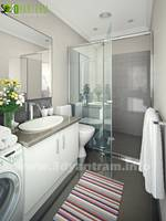 3D Bath Interior Rendering Studio