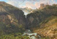 The Falls of Tivoli with the Temple of Vesta by WI