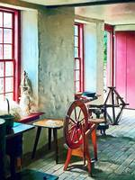 Spinning Wheel Near Window