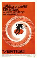 Theatrical poster of Vertigo. Art by Saul Bass.