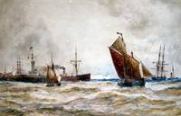 Thomas Bush Hardy - Leaving Port, Calais 1894