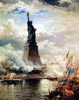 Unveiling of the Statue of Liberty Enlightening th