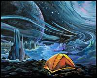 A Perfect Adventure - Camping in Space Art Print