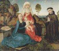Virgin and Child With St. Anne and a Franciscan do